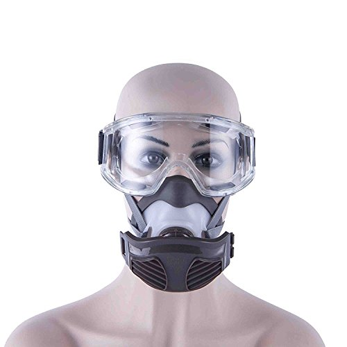 safety-half-mask-respirator-with-goggles-for-chemical-industry-gas-extremes-condition