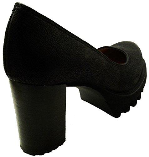 PEDRO MIRALLES 29461, Zapato decollete EN Piel Color Negro