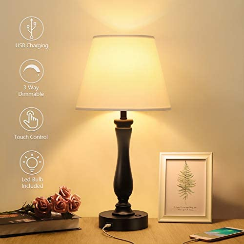 Touch Control Table Lamp Dimmable Bedside Lamp