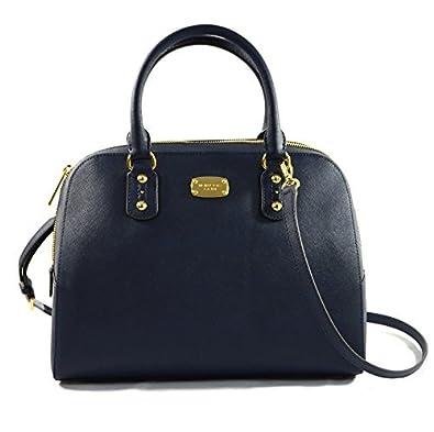 2d08c4aa4 Michael Kors Saffiano Leather Large Satchel Navy: Handbags: Amazon.com