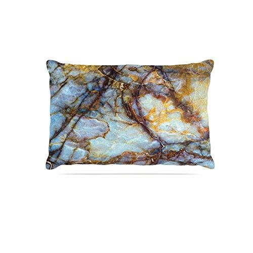 KESS InHouse Kess Original Opalized Marble bluee Brown Dog Bed, 30  x 40