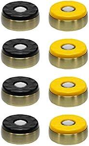 "Shuffleboard Pucks Indoor- Set of 8 - Home Game Dia. 58mm (2-5/16"") Multiple Color"