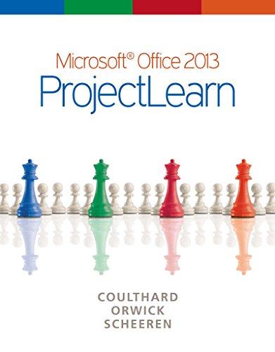 Microsoft Office 2013: ProjectLearn Pdf