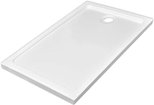 vidaXL Plato Ducha Rectangular Antideslizante ABS Blanco 70x120 ...