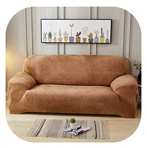 (Solid Color Plush Stretch Sectional Sofa Covers All-Inclusive Polyester Elastic Couch Cover Sofa Towel Sofa Cushion Slipcovers,Color 6,2 pcs Cushion Cover)