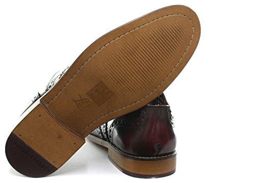 London Brogues Gatsby Leather Zapatos De Hombre Brogue Borgoña / Vino