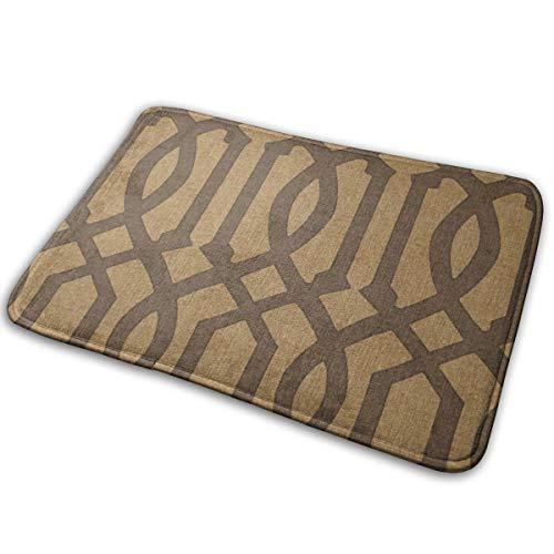 - Blived Victoria Trellis in Chocolate On Linen Entrance Mat Indoor/Outdoor/Front Door/Bathroom Mats 23.6(L) x 15.7(W) inch
