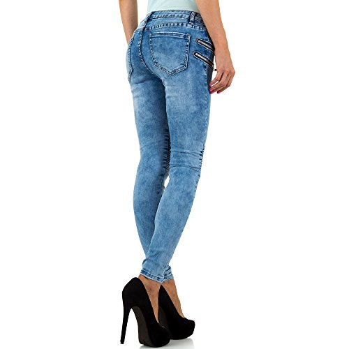 Used Look Low Biker Skinny Jeans Für Damen , Blau In Gr. S/36 bei Ital-Design