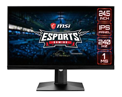 "MSI Optix MAG251RX Monitor Gaming Esport 24.5"", Pantalla 16:9 FHD (1920x1080), Frecuencia 240 Hz, Tiempo de Respuesta 1 ms, Panel IPS, AMD FreeSync, Nvidia G-Sync, HDR 400"