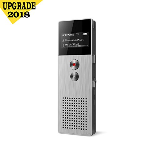 Digital Voice Recorder [32GB Expandable] Audio Activated Recorder Microphone Noise Reduction 1536kbps Sound Recording, Perfect Lectures & Conversation, Indoor & Outdoor by Smilism
