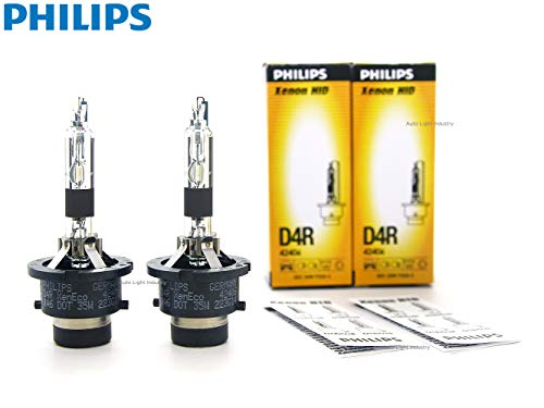 PHILIPS D4R 4300K OEM Replacement HID bulbs (# 42406) - Pack of 2 by ALI