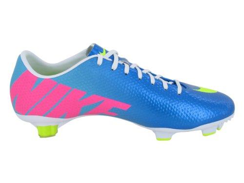 nike mercurial veloce s FG botas de fútbol de tierra 555447 380 zapatos de fútbol firma blanco/azul