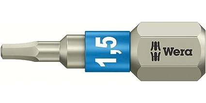 3840//1 TS Torsion Stainless Steel Insert Bit Hex 2.5 x 25mm Wera