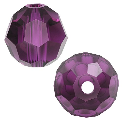 (SWAROVSKI ELEMENTS Crystal #5000 Round 6mm Amethyst Beads (10))