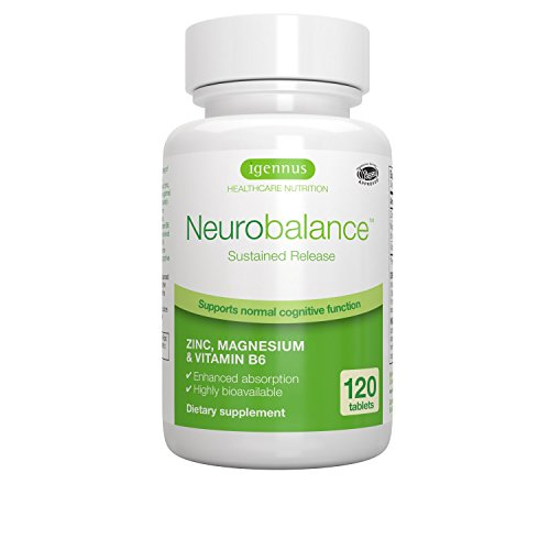 Neurobalance  Brain Function Supplement with Zinc Methionine, Magnesium & Vitamin B6  Supports Mental Performance, Mood, Sleep & Hormone Balance, 120 tablets