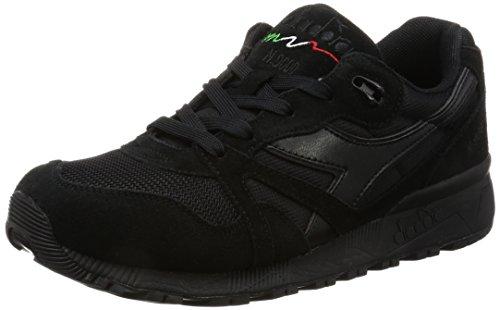 Hommes Diadora N9000 Iii Chaussures De Gymnastique 80013 - Noir