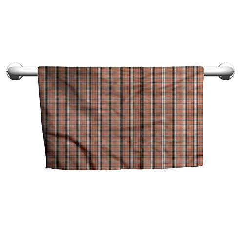 Wellington Check - flybeek Floral Hand Towels Plaid,Irish Stripes Checks,Beach Towel for Toddler