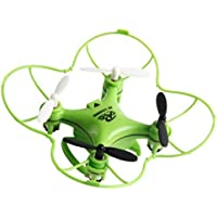 Owill RC101 Drone 2.4G 4CH 6-Axis Mini RC Gyro Aircraft Without Camera/ For Kids Fun Playing (Green)