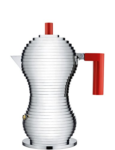Alessi Pulcina Espresso Coffee Maker, 3 Cup Induction Model by Michele De Lucchi by Alessi