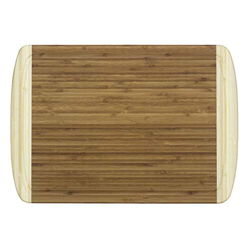 Totally Bamboo 20-1250 Kona Groove Bamboo Carving & Cutting Board, 18