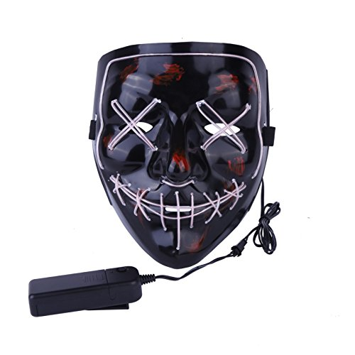 Halloween Mask Led Light Up Party Masks The Purge Election Year Great Masks Festival Cosplay Costume Supplies Glow In Dark W -