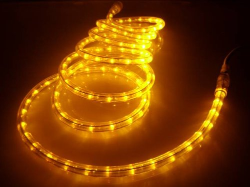 Amazon 50ft rope lights brilliant amber led rope light kit 50ft rope lights brilliant amber led rope light kit 10quot led spacing aloadofball Gallery