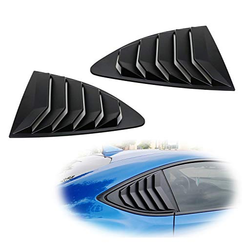 iJDMTOY Left/Right Matte Finish Racing Style Rear Side Window Scoop Air Vent/Louver Shades For 2013-up Scion FR-S Subaru BRZ and Toyota 86