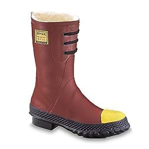 "Ranger 12"" Heavy-Duty Fleece Insulated Men's Rubber Work Boots with Steel Toe (6147)"