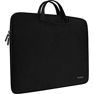 Laptop Sleeve Bag 15.6 Inch, Durable Slim Briefcase Handle Bag & with Two Extra Pockets,Notebook Computer Protective Case for Computer Notebook Ultrabook ,Collapsible Carrying Handles (Black)