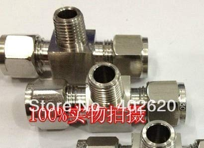 Maslin SS304 Tee, 6mm-1/8 Stainless Steel tee, Stainless fittigs, Stainless Steel Hexagon tee, 8mm Hexagon Tee