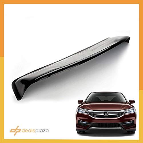 Dealsplaza 2016 Honda Accord Rear Window Spoiler - Rear Visor Spoiler Accord 2013 2014 2015 2016 4 Door Sedan PP Polypropylene Black Glossy (Honda Accord Visor Spoiler)