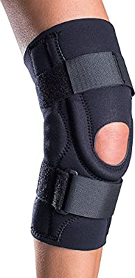 DonJoy Performer Hinged Patella Stabilizer Knee Brace, Neoprene