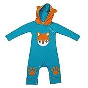 StylesILove Baby Boy 3D Long Sleeves Hoodie Costume Romper (80/6-12 Months, Fox)