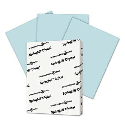Springhill - 3 Pack - Digital Vellum Bristol Color Cover 67 Lb 8 1/2 X 11 Blue 250 Sheets/Pack Product Category: Paper & Printable Media/Loose Paper by Original Equipment Manufacture