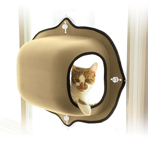 K&H Pet Products EZ Mount Window Pod Kitty Sill Tan 27