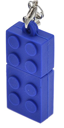 FEBNISCTE Key Chain Model Memory Stick Blue Building Block 4GB USB 2.0 Thumb Pen Drive - 100 Pack by FEBNISCTE (Image #3)