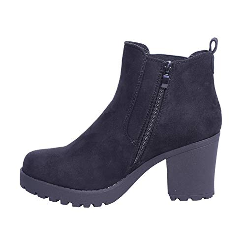 Chelsea Chelsea Clothing Donna Black Faux Shoes LAW LAW Suede Stivali amp; TqwARaAxF