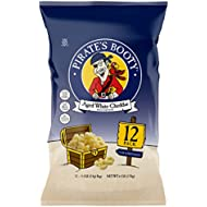 Pirate's Booty Snack Puffs, Aged White Cheddar, 0.5 oz. (Pack of 12)