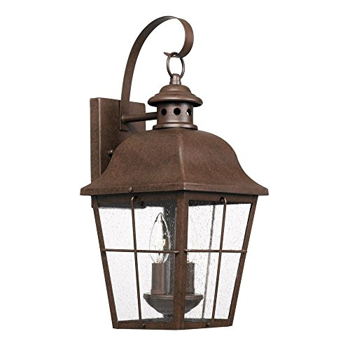 (Quoizel MHE8409CU Millhouse Outdoor Wall Sconce, 2-Light 120 Total Watts, Copper Bronze)