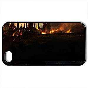Hogwarts From Harry Potter - Case Cover for iphone 6 and (Watercolor style, Black)