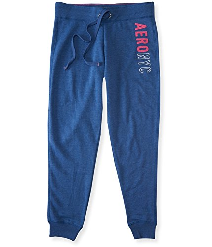 Aeropostale Womens NYC Slim Fit Casual Jogger Pants, Blue, Small