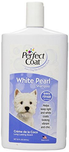 Perfect Coat White Pearl Shampoo, 32 Ounce Bottle, Coconut Scent