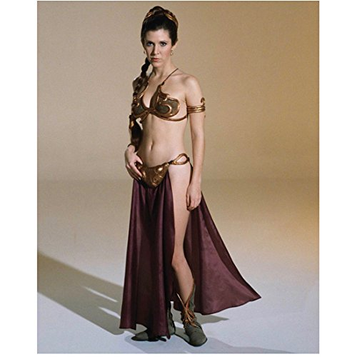 Carrie Fisher as Princess Leia Standing in Slave Costume 8 x 10 Inch Photo -