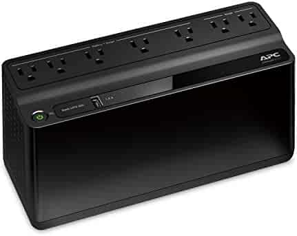 APC Back-UPS 600VA UPS Battery Backup & Surge Protector with USB Charging Port (BE600M1)