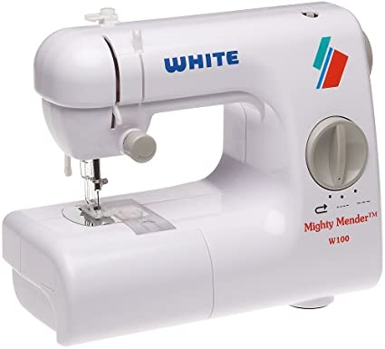 Amazon White W40 Mighty Mender Lightweight Portable Compact Unique White Sew EZ Mini Sewing Machine