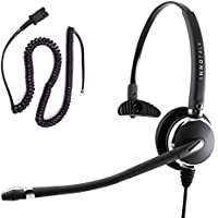 Cisco 7940 7941 7942 7945 7960 7961 7962 7965 7970 7971 7975 Luxury Noise Cancel Mic Monaural Phone Headset with Plantronics compatible QD for Call Center
