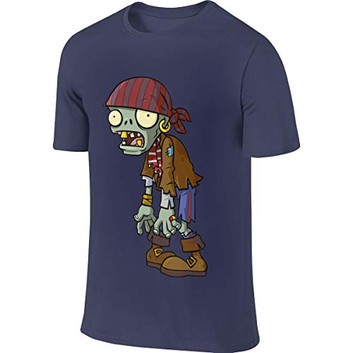 NICOTE Man Custom Casual Tee Shirt Plants Vs Zombies Zombie T-Shirts Navy]()