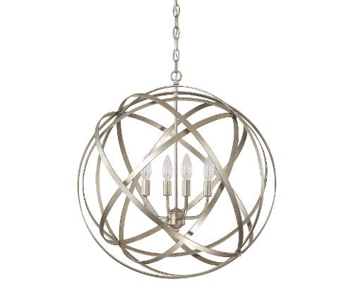 Capital Lighting 4234WG Axis 4-Light Pendant, Winter Gold Finish