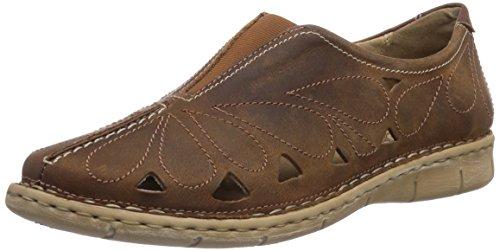 Josef Seibel Amanda 13 - Zapatillas de casa de cuero mujer marrón - Braun (95 234 bark)