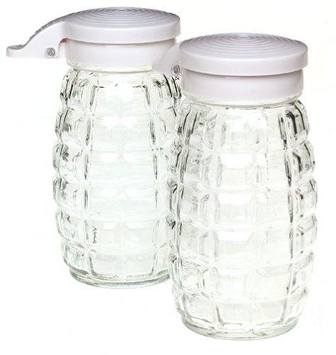 Lifetime Brands Condiment Set (Gemco 2-Piece Flip Top Glass Candy Dispenser Set)